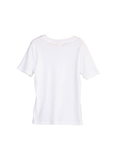 Levi's® 376970013 Rib Baby 3 Pamuklu Bisiklet Yaka Kadın Tshirt Beyaz